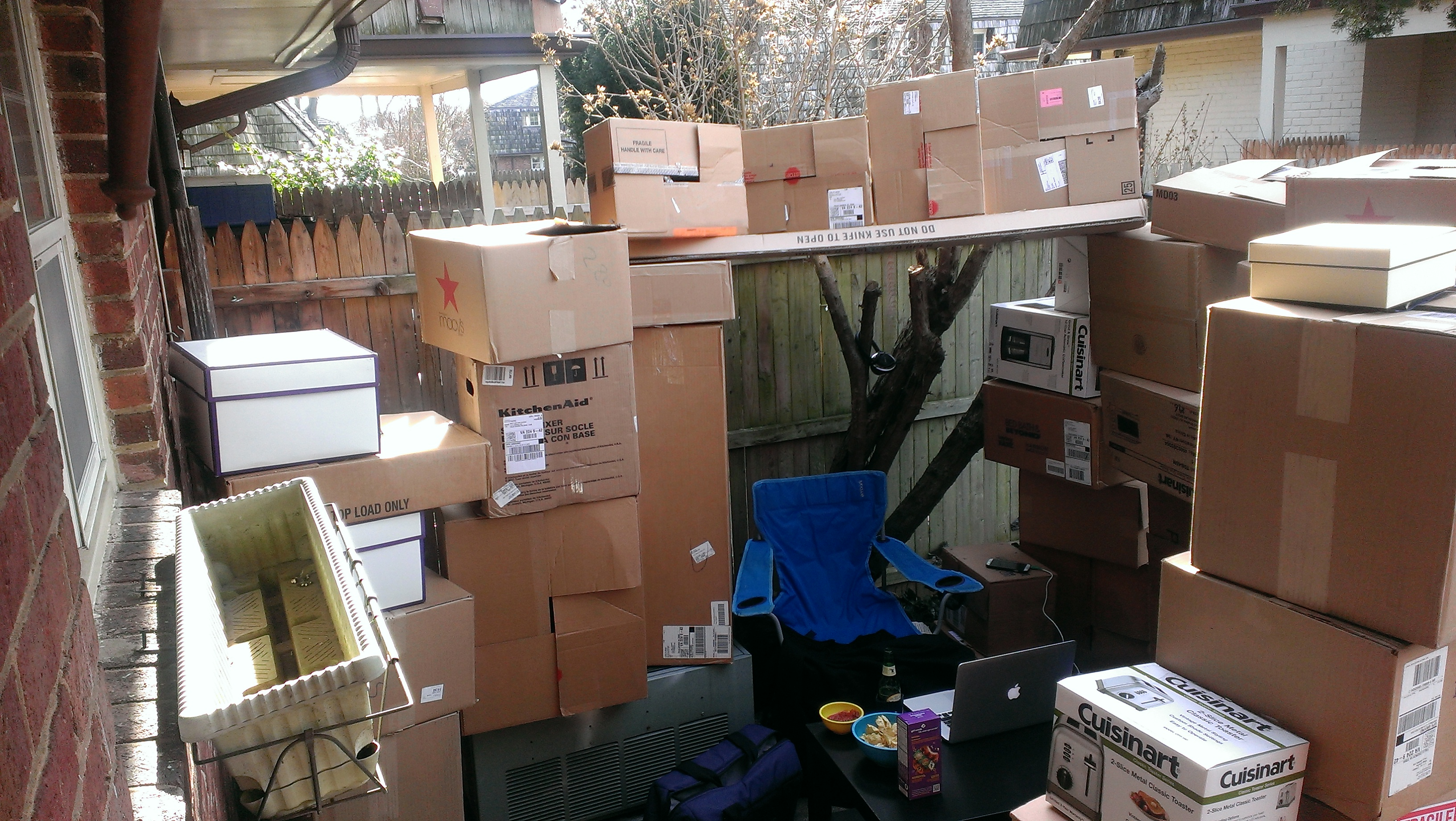 backyard box fort you u0027re never too old for an outdoor box fort