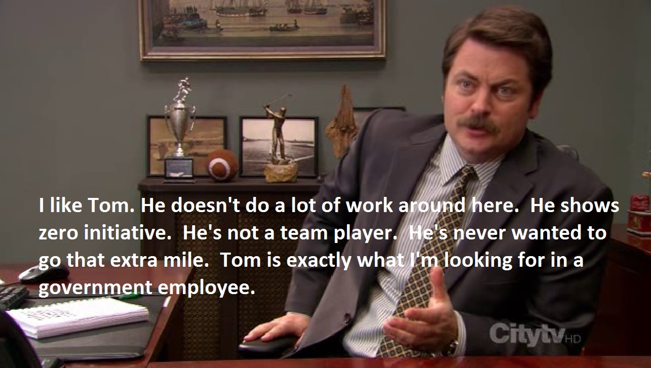 Unique Ron Swanson39s Handbook  Coub  GIFs With Sound
